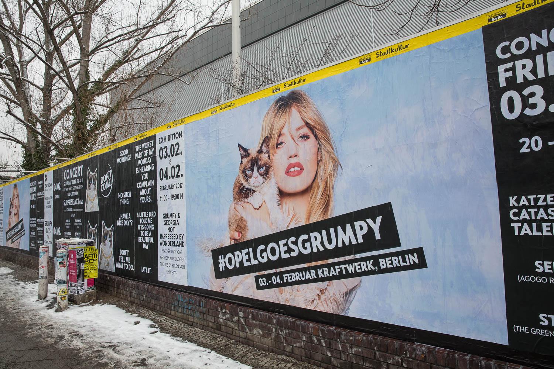 grumpy cat opel vernissage in berlin   awr autoweltrevue magazin
